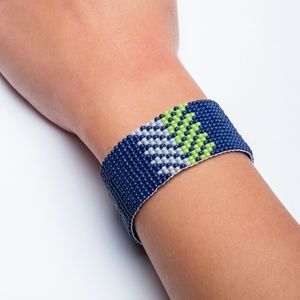 Jewelry - Seattle Seahawks Loom Beaded Bracelet